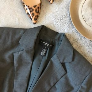 Club Monaco Collection Gray Wool Mohair Blazer